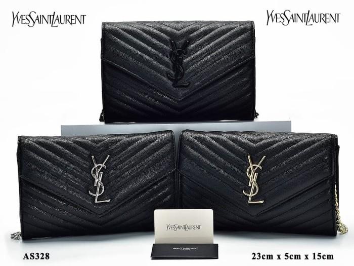 Jual Clutch YSL WOC Matelasse Caviar Leather Semprem AS328 Murah ... d3bc4d7c8b
