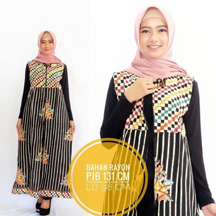 Jual Outer Gamis Batik Rompi Batik Panjang Longdress Baju Kekinian Kab Klaten Gu Fashion Tokopedia