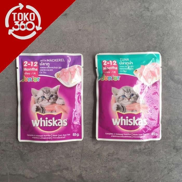 Jual Whiskas Wiskas Pouch 85g Makanan Anak Kucing Kitten Cat Wet