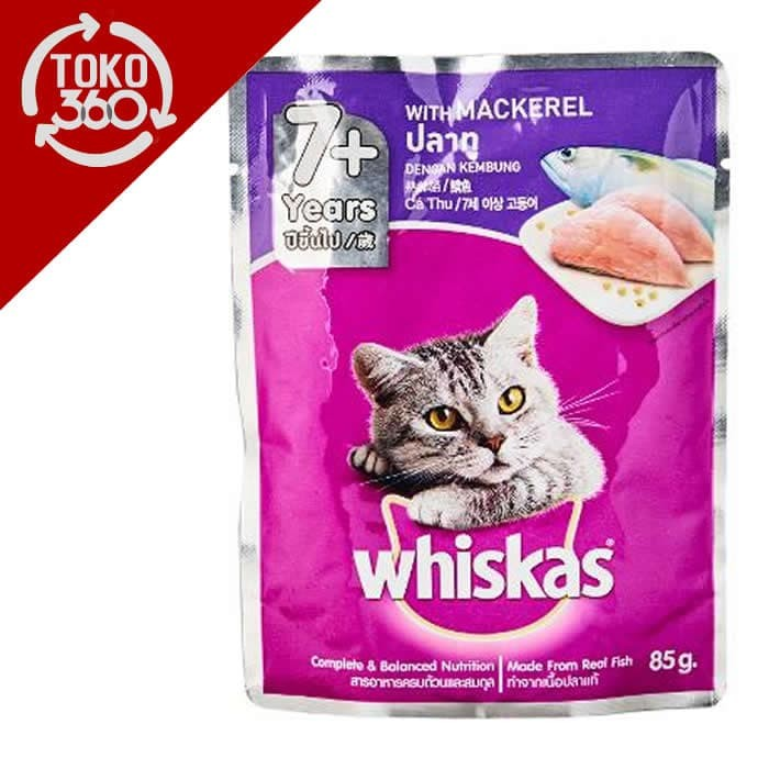 Jual Whiskas Wiskas Mackerel Makanan Kucing 85g Wet Food Rasa Ikan