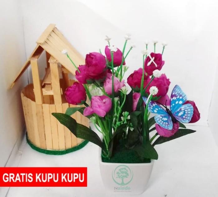 Naindo-Bunga Allamanda ungu-bunga plastik-hiasan ruang tamu   kantor - Ungu 0dd5d34f80