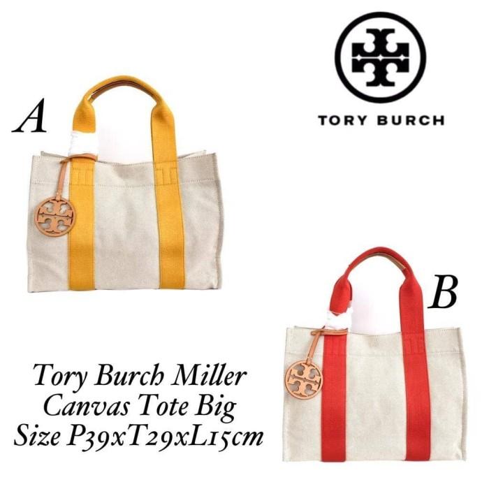 68720a264 Jual Tory Burch Miller Canvas Tote Bag - Kuning - Grande Butiq ...