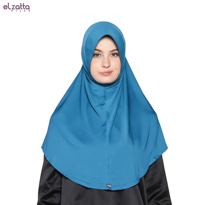 Jual Elzatta Hijab Hijab Instan Bergo Elzatta Basic E002 Blue Polos Kota Bandung Asli Kota Bandung Tokopedia