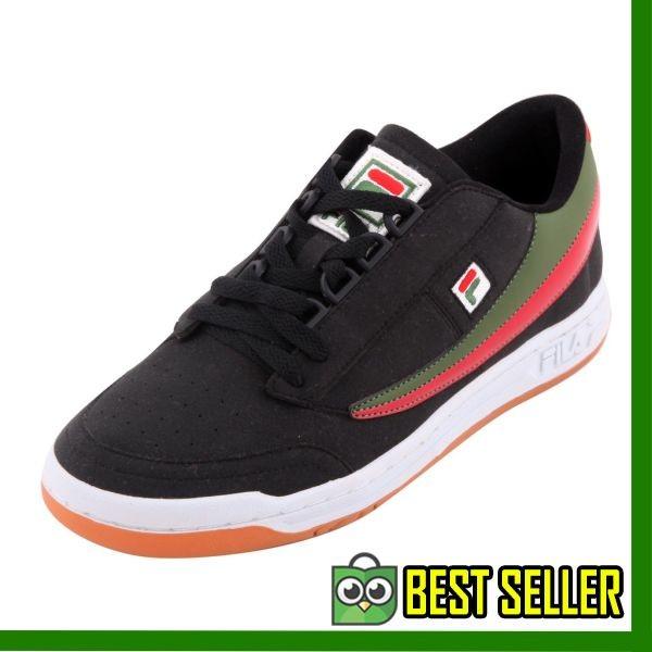 Jual Promo Fila Sepatu Tenis Olahraga Original Tennis - BLACK WHITE ... 74d5bc32cd