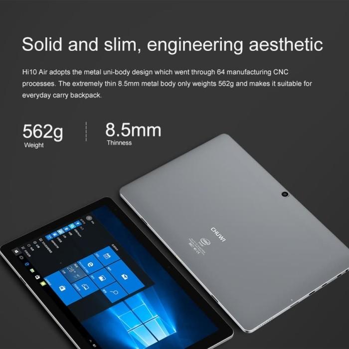 harga Chuwi hi10 air 64gb ultrabook 2 in 1 windows 10 fullhd laminated wifi Tokopedia.com