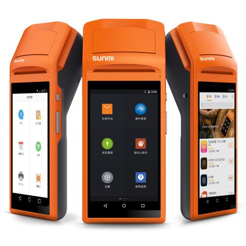 harga Sunmi v1s nfc 3g android thermal printer barcode scanner handheld pos Tokopedia.com