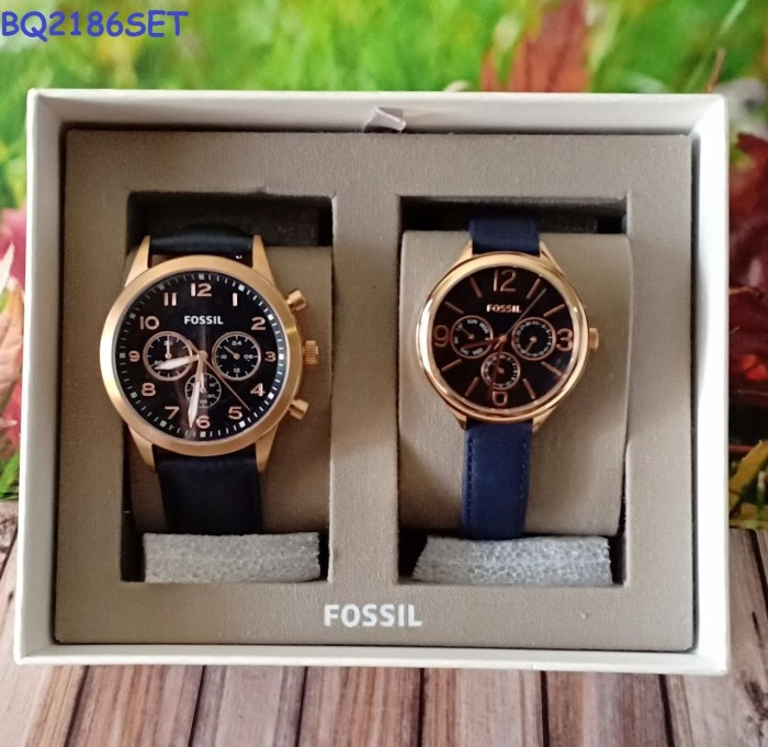 7b9607501ae8 Jual FOSSIL BQ2186SET HIS CHRONOGRAPH AND HER MULTIFUNCTION NAVY ...
