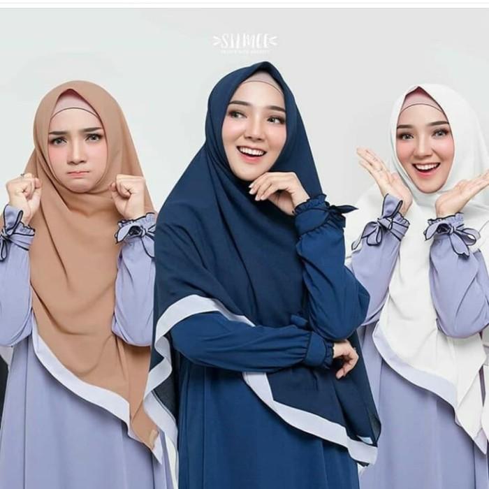 Foto Produk Khimar Hijab Semi Instan List Diakond Crepe dari harmet kerudung