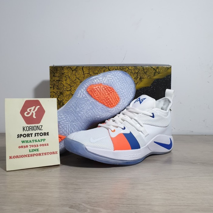 2e252afc6272 Jual Murah Sepatu Basket Nike Paul George PG 2 The Bait White Free ...