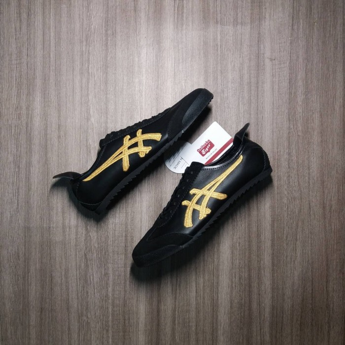 best service 536b1 24826 Jual Asics Onitsuka Tiger Mexico 66 Kabuki Black Gold Premium Quality - DKI  Jakarta - Adhezta Sport | Tokopedia