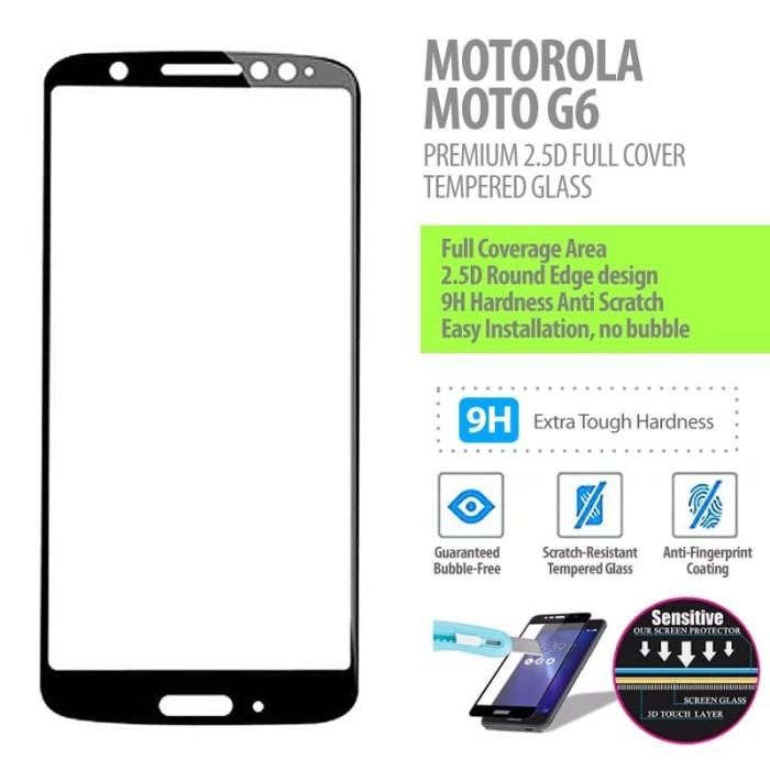 Foto Produk Motorola Moto G6 - Premium 2.5D Full Cover Tempered Glass dari Bungkusgan