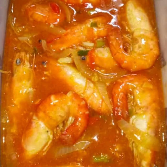 Jual Udang Galah Saus Pedas Makanan Siap Saji Saus Padang