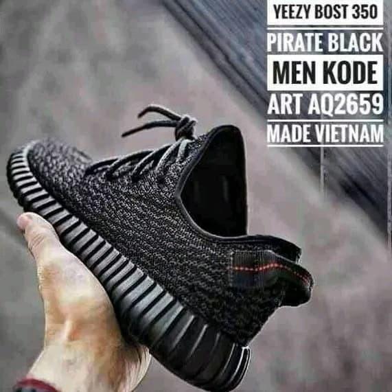 a94f3c520d17 Sale Adidas Yeezy Yezzy YZY Boost 350 Black Pirate Grade Ori Vietnam -  Putih