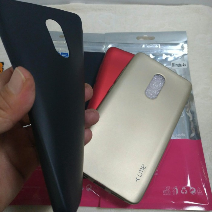 Xiaomi Redmi Note 4x Case Emerald / Softcase Doff Original Ume - Hitam