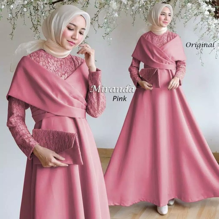 Jual Gamis Pesta Miranda Baju Pesta Elegan Baju Muslim Elegan Gamis