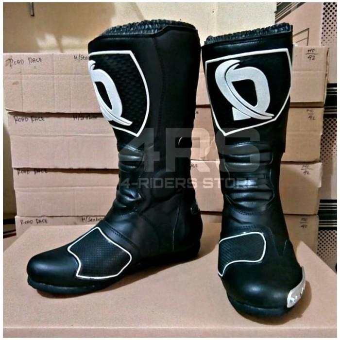 harga Promo sepatu balap touring dln roadrace racing boots - full black Tokopedia.com