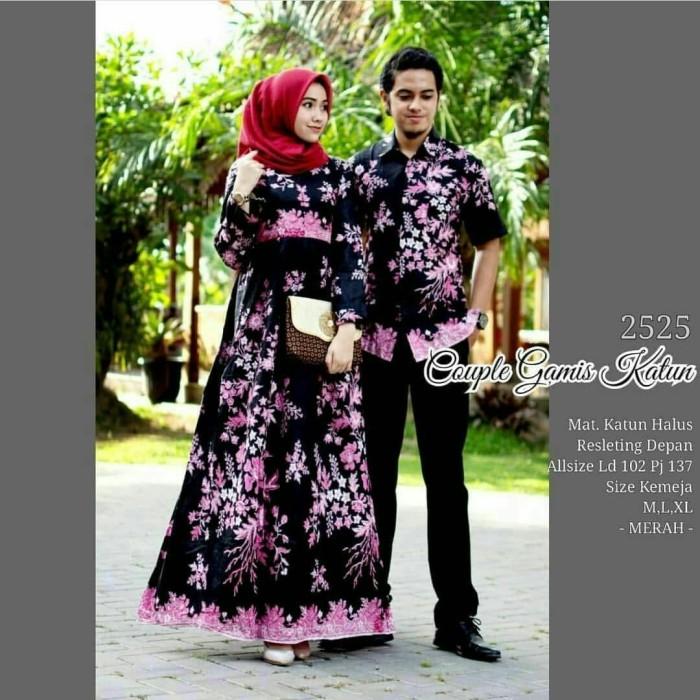 Jual Sarimbit Batik Gamis Mewah Cocok Untuk Kondangan Hb203 Harga Rp