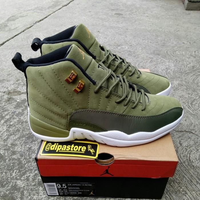 b363baa7db83a0 Jual Sepatu Air Jordan 12 XII Chris Paul Olive BNIB PERFECT QUALITY ...