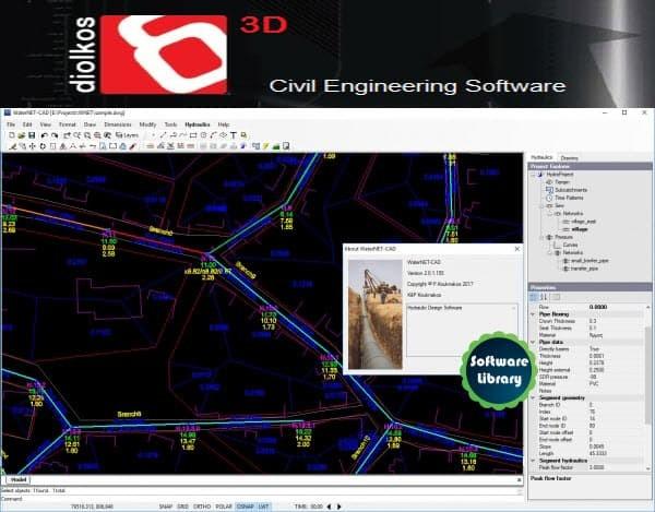 Jual Pipe Network Design WaterNET-CAD v2 0 1 155 (Release on Dec 2018) -  DKI Jakarta - Software Library | Tokopedia