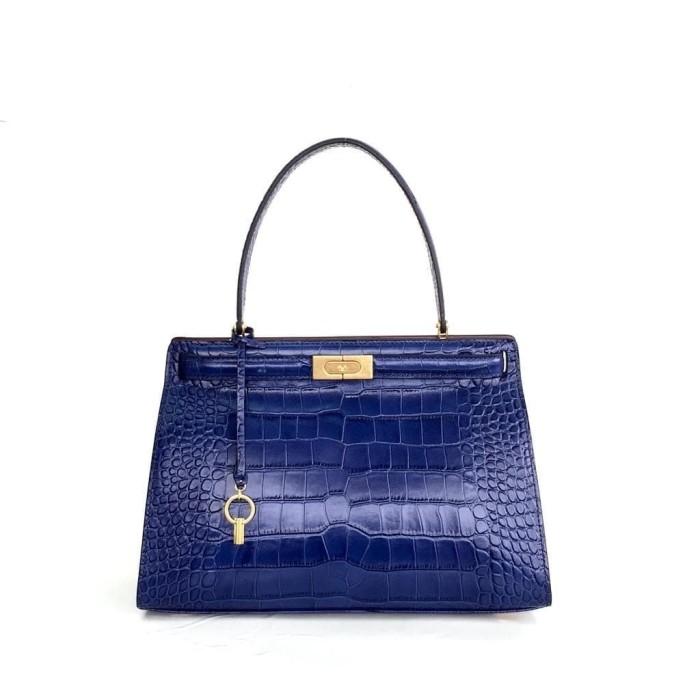 ca1a479bc53c Jual tory burch lee radziwill embossed satchel blue - DKI Jakarta ...