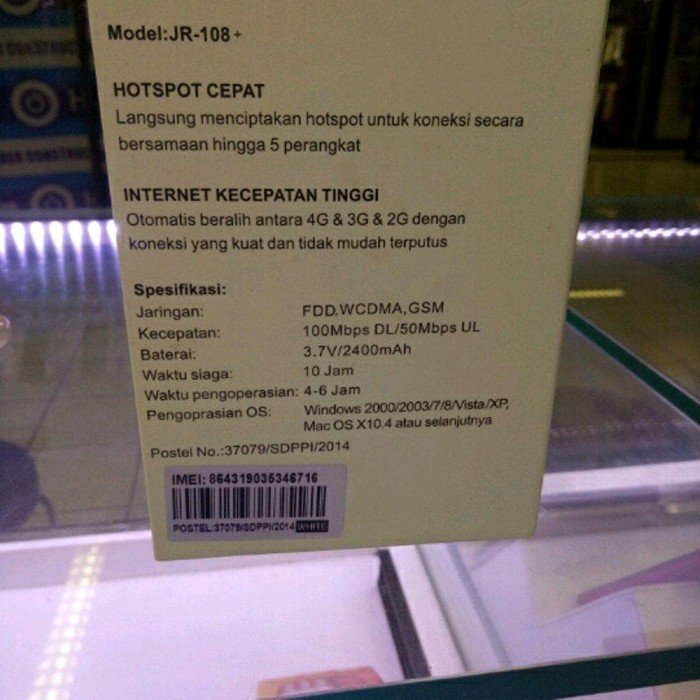 Terpopuler Modem Wifi Advan Jr-108 Plus Bisa Semua Kartu Gsm