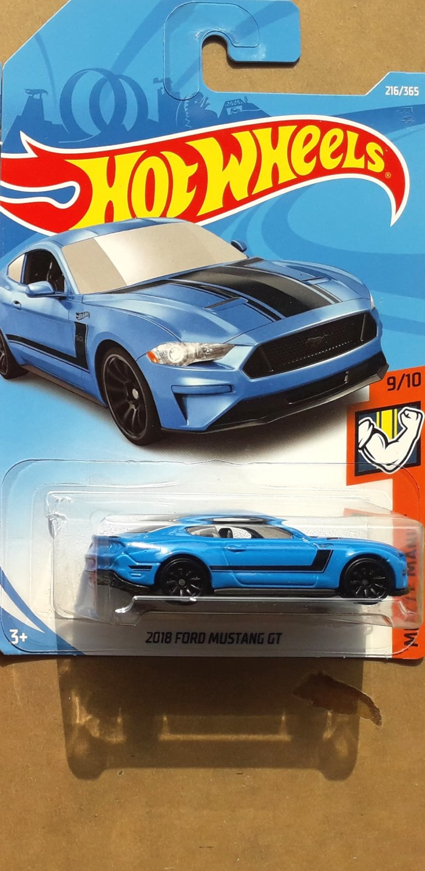 Hotwheels 2018 ford mustang gt biru
