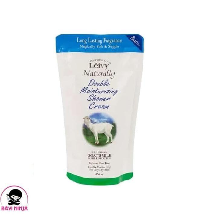 LEIVY Goats Milk Shower Cream Sabun Mandi Susu Kambing 900 ml