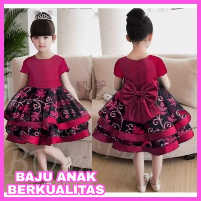 Gaun Pesta Batik Anak Perempuan