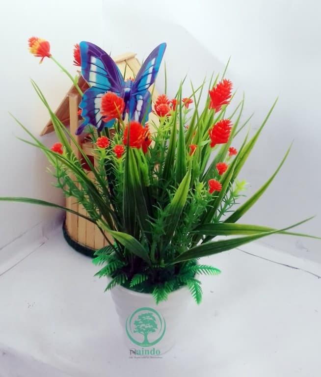 Jual Naindo Bunga Hiasan Ruang Tamu Kantor Vas Bunga Artifisial ed097cc72a