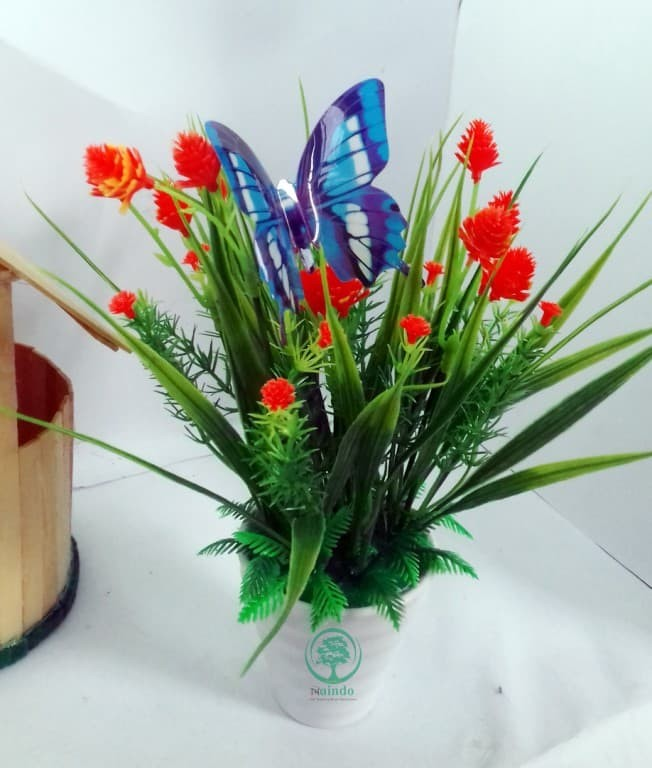 Jual Naindo Bunga Hiasan Ruang Tamu Kantor Vas Bunga Artifisial a7a9f57127