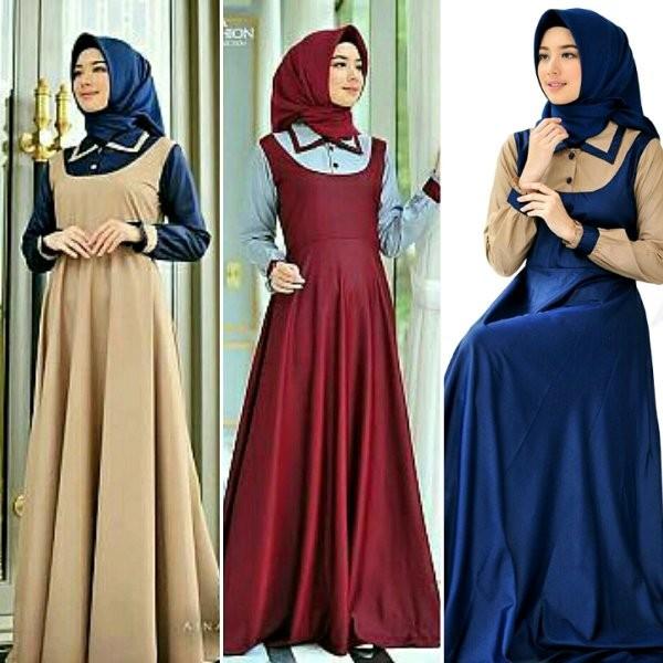 Jual Gamis Maxi Asyafar Baju Muslim Wanita Long Dress Maxy Terusan Modis Grogol Tokoada9087 Tokopedia