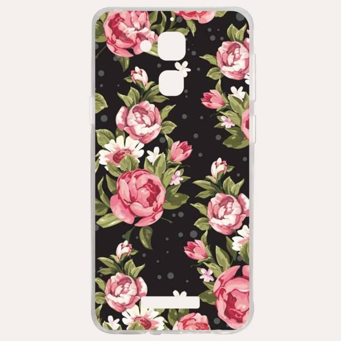 Case HP Bahan Silikon Gambar Bunga Mawar untuk Asus Zenfone Laser 3
