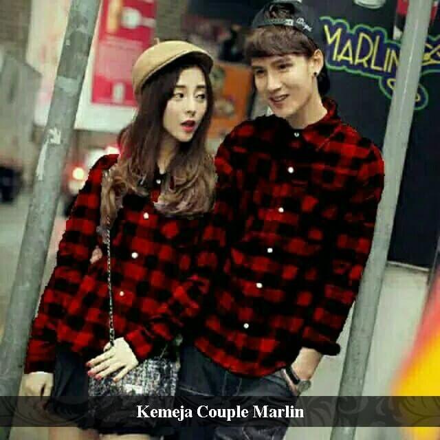 Foto Produk kemeja couple marlin | kemeja kembar | kemeja flanel | kemeja distro dari koleksi baju couple
