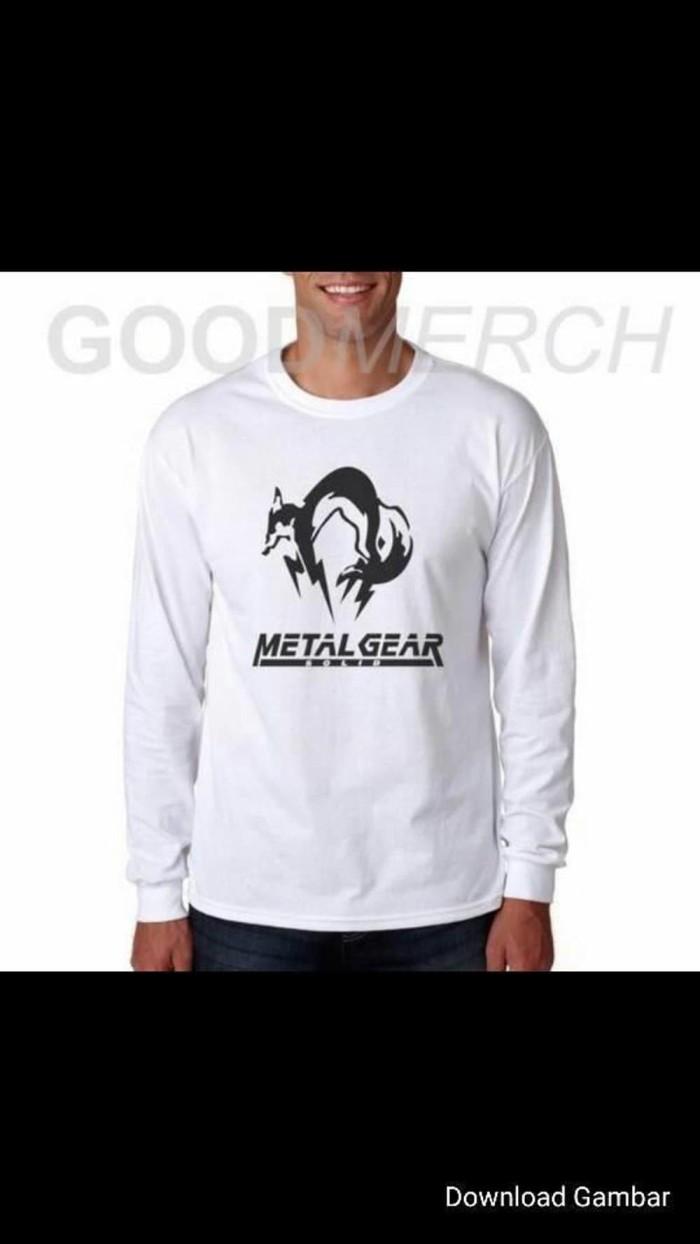 Jual Paling Keren Kaos Distro Lengan Panjang Baju Pria Metalgear So MURAH Jakarta Selatan Salma Etnik