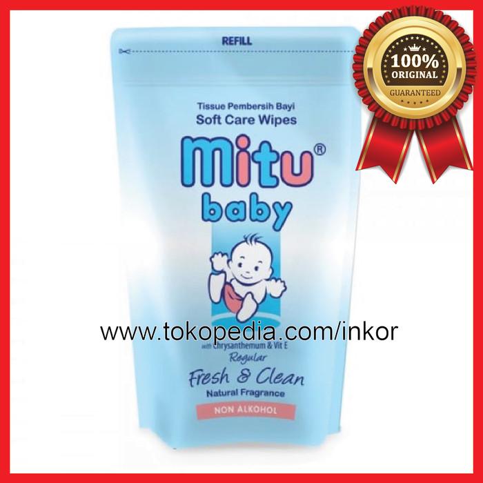 8e9e78a72d58 Jual MITU BABY WIPES TISU BASAH BLUE REFILL 50S - Inko
