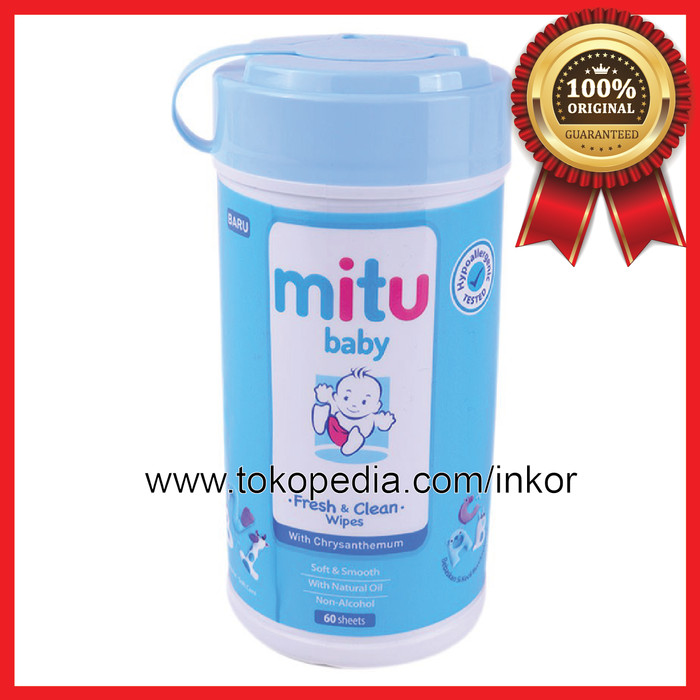2f89bc79aee9 Jual MITU BABY WIPES TISU BASAH BLUE BOTOL 60S - Kab. Tangerang ...