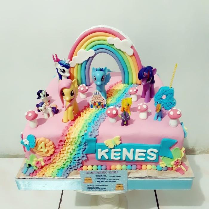 Jual Kue Ulang Tahun Little Kuda Pony Fondant Cake Jakarta Timur Novlauwcake Tokopedia
