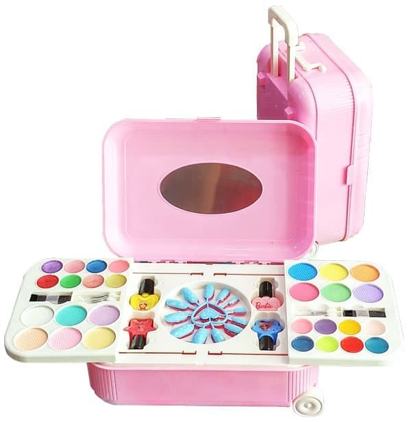 M148 Mainan Alat Make Up anak Hello Kitty The Nail Art (Koper)