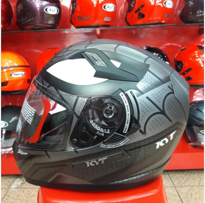 Foto Produk Helm KYT K2 Rider Motif Spider Doff Grey K 2 Rider Marvel Seri 1 dari Doctor Helm