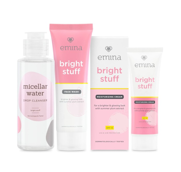 Emina moisturizing cream bright stuff +spf15 protection moisturizer