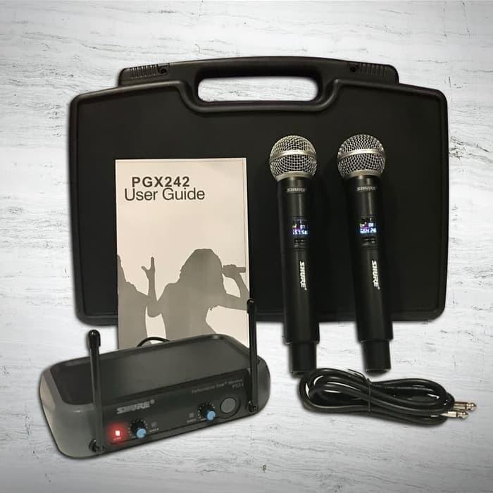 harga Mic wireless shure pgx 242 + koper ( handeld mic ) Tokopedia.com