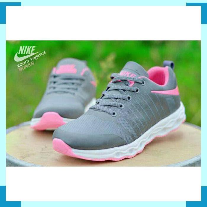 Jual Best Seller Sepatu Olahraga Abu Grey Wanita Cewek Cewe Sekolah ... 253c6bad66