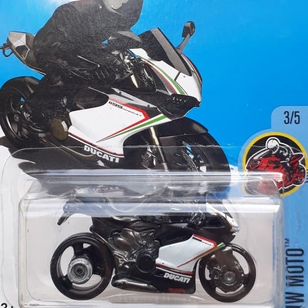 Hotwheels ducati 1199 panigale hitam diecast motor cycles sport high