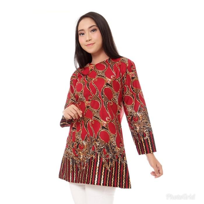 Jual Baju Batik Atasan Blouse Wanita Modern Murah Batikdenada Tokopedia