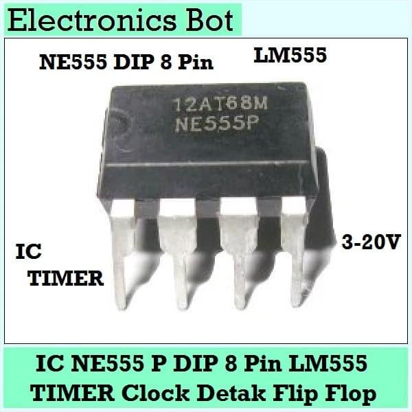Foto Produk [EBS] IC NE555 P Penghitung Timer Penghitung waktu Clock Flip Flop dari Electronics Bot Store