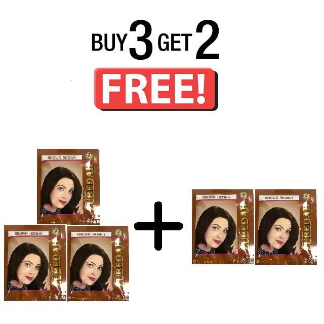 Harga Promo Pewarna Rambut Perawatan Buy 3 Get 2 Zubedah Henna Inai