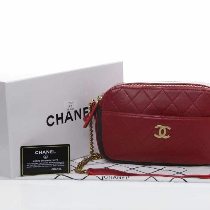 bd69c5815684 Jual CHANEL DOUBLE QUILTED CAMERA CASE BAG WITH BOX JB1777 - dhaffy ...