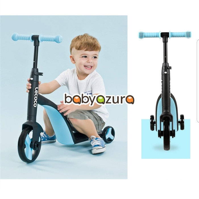 harga Lecoco leo x3 3in1 scooter anak sepeda anak ride on import ori biru Tokopedia.com