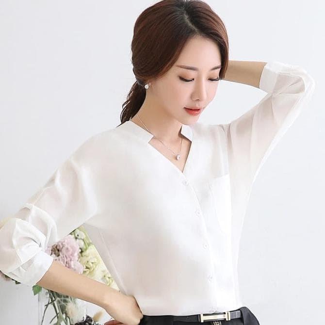 Jual Okechuku Keinara Kemeja Wanita Korean Style Pakaian Kerja Model ... 63ab973c5a