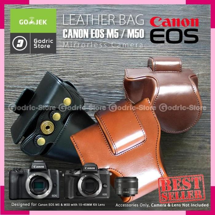 Jual Canon EOS M50 M5 Leather Bag Case Tas Kulit Kamera Mirrorless ... f8b594ad92